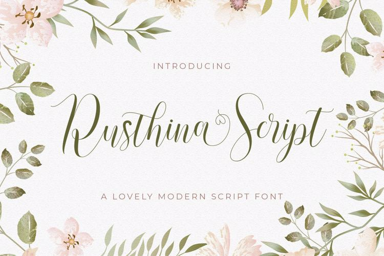 Rusthina Script Font