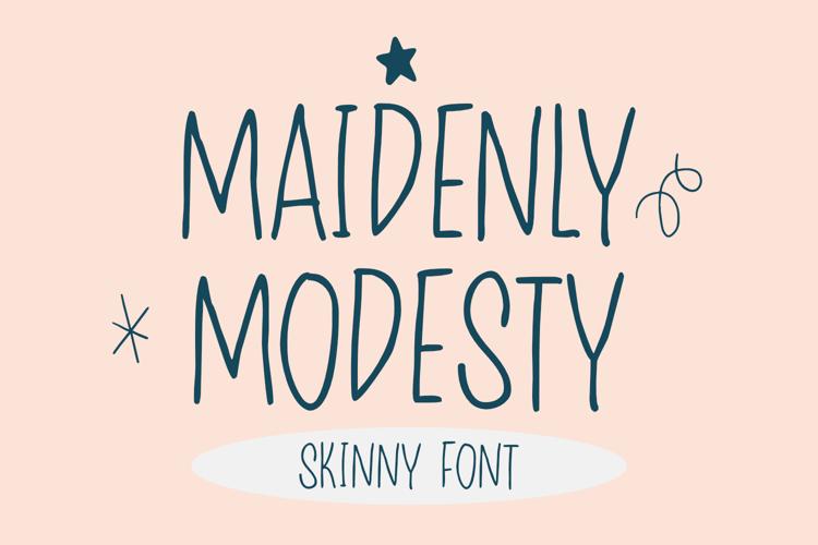 Maidenly Modesty Font