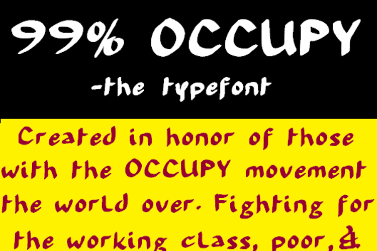 99 % OCCUPY Font