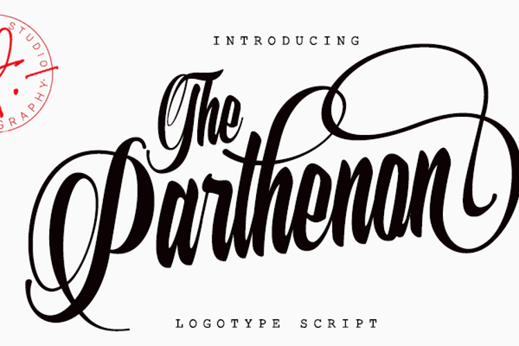 The Parthenon Font