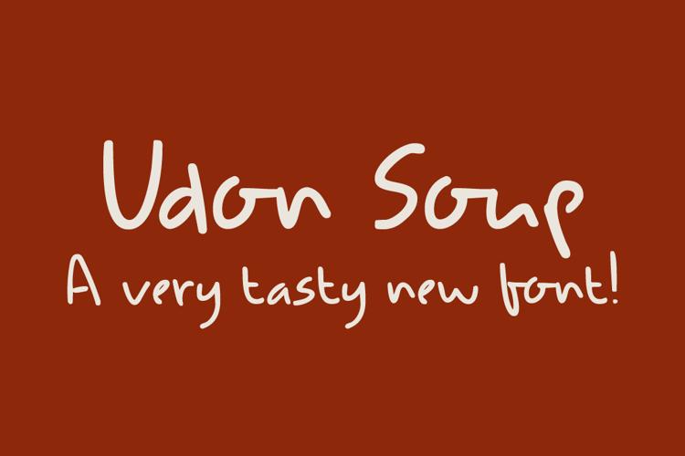 DK Udon Soup Font