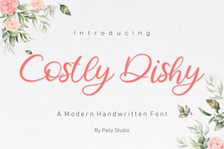 Costly Dishy Font