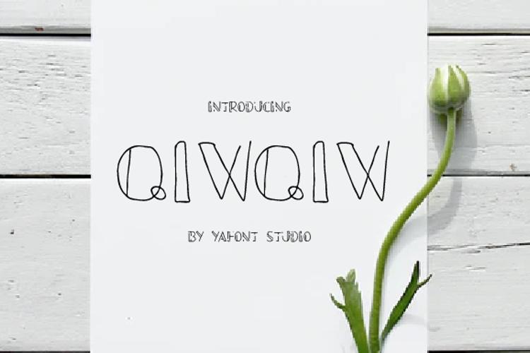 QIWQIW Font