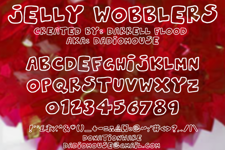 Jelly Wobblers Font