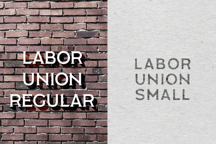 Labor Union Font