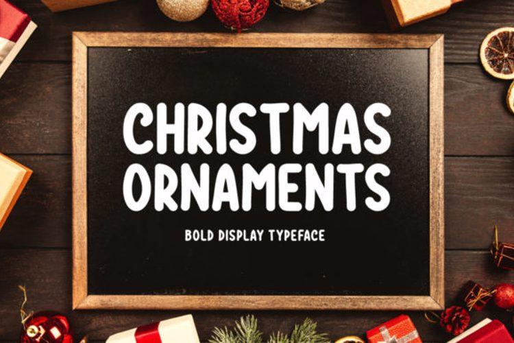 Christmas Ornaments Font