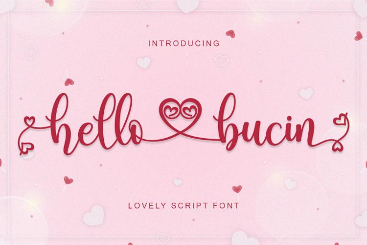 Hello Bucin Font