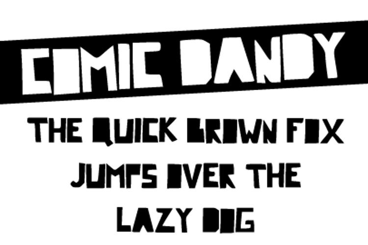 Comic Dandy Font