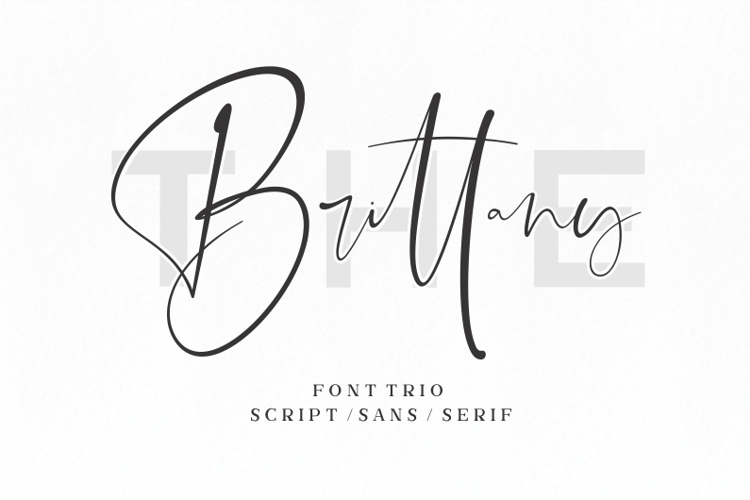 The Brittany Script Font