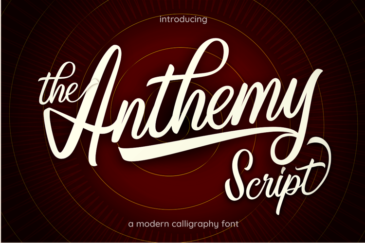 Anthemy Script Font