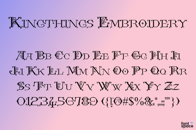 Kingthings Embroidery Font