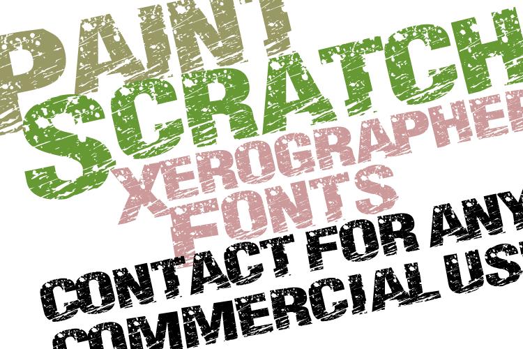 PaintScratch Font