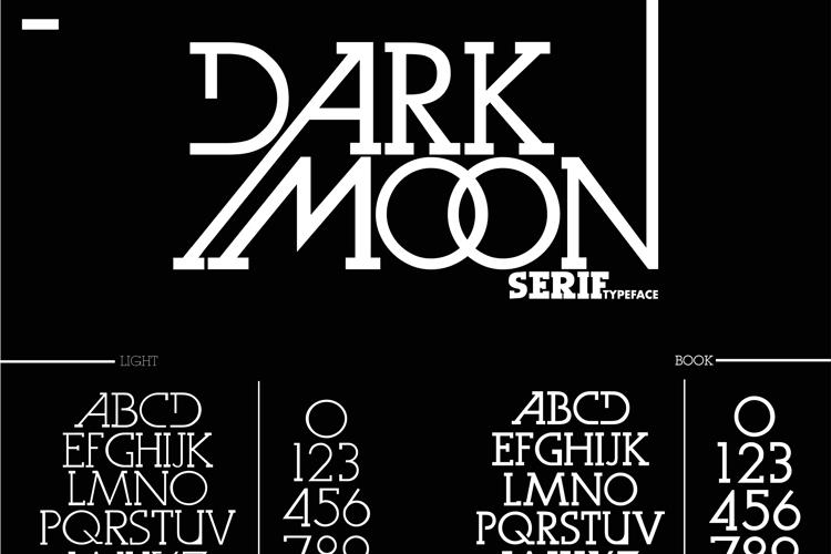 Dark Moon Serif Font