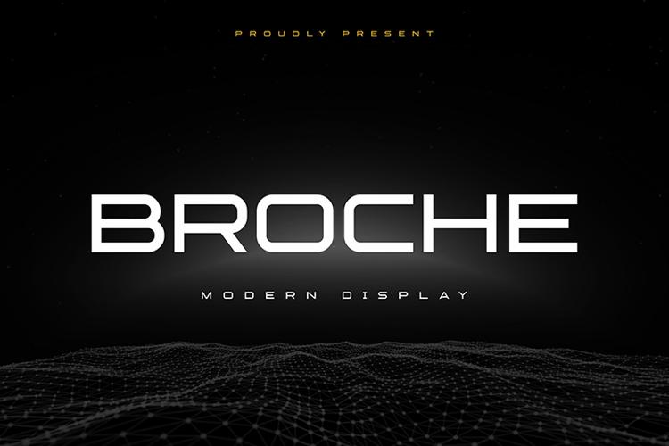 Broche Cut Font