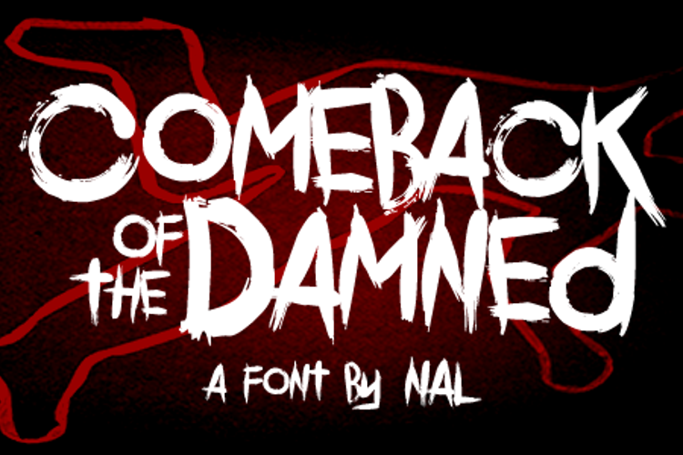 Comeback Of The Damned Font