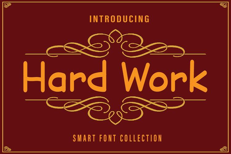 Hard Work Font