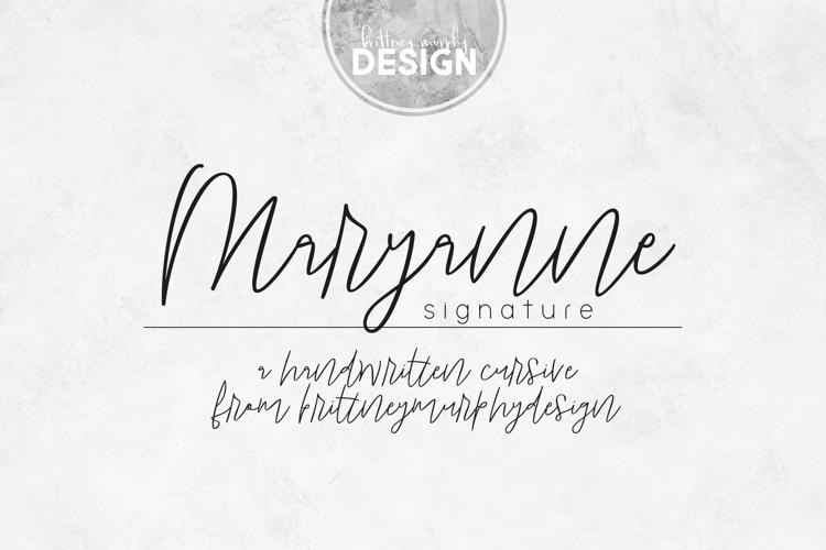 Maryanne Signature Font