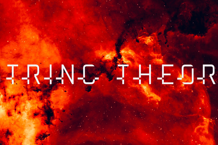 string theory Font