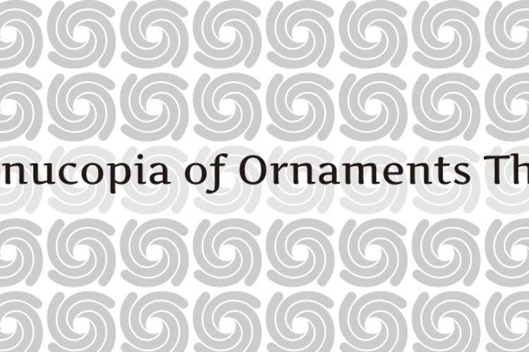 Cornucopia of Ornaments Three Font