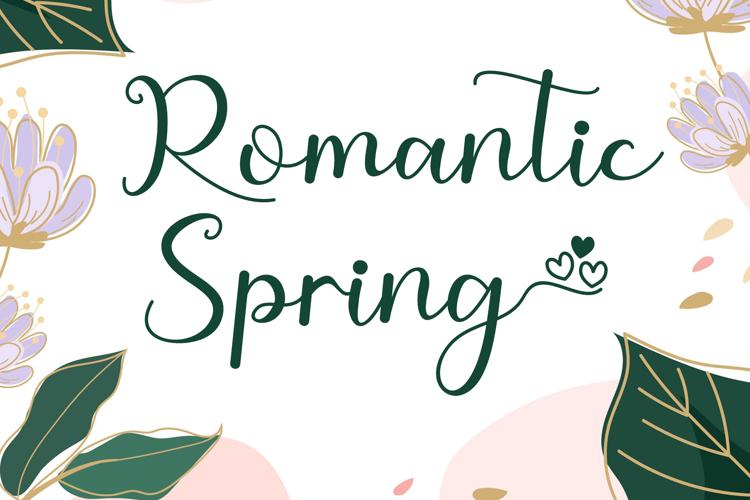 Romantic Spring Font
