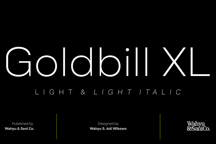 Goldbill XL Font