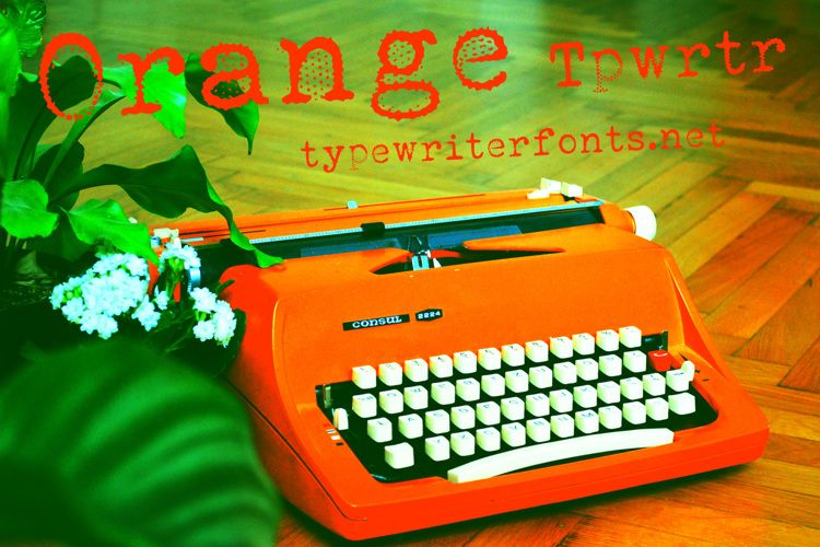 Orange Typewriter Font