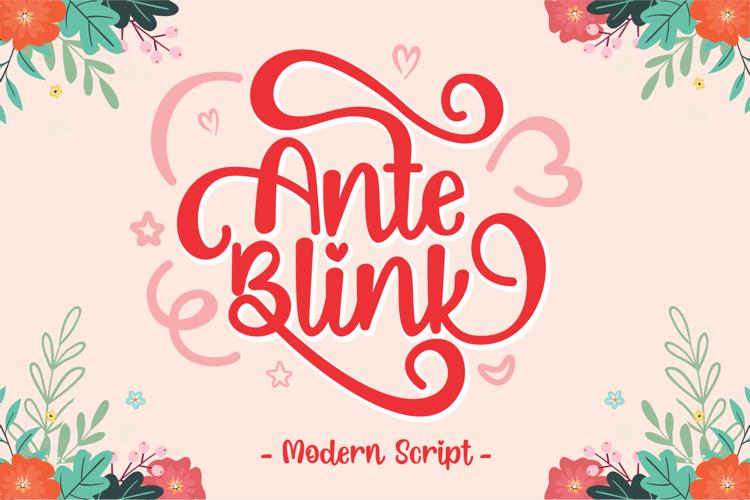 Ante Blink Font