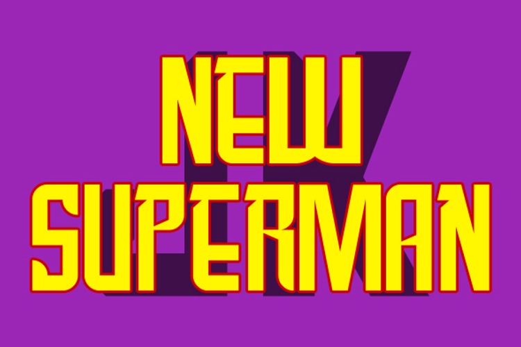 New SuperMan Font
