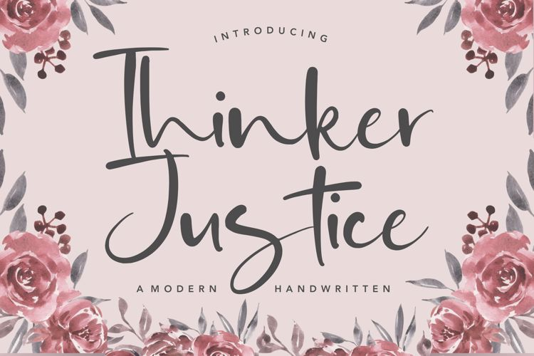 Thinker Justice Font