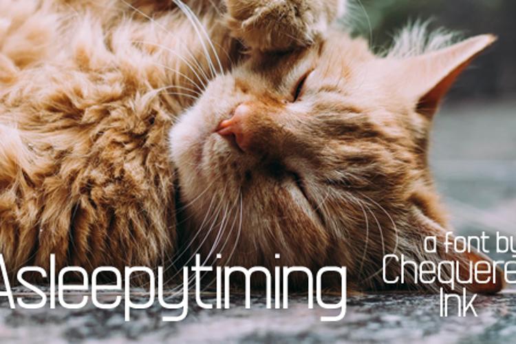 Asleepytiming Font