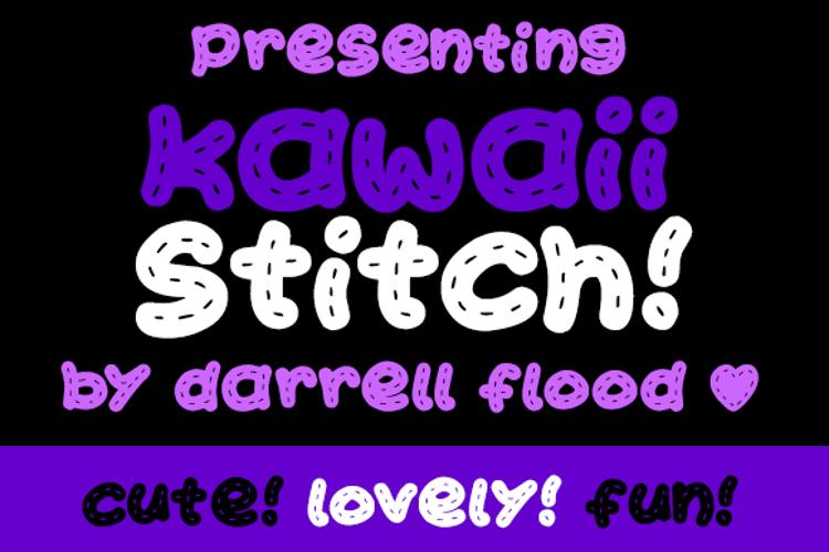 Kawaii Stitch Font