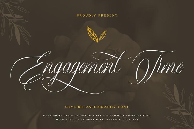 Engagement Time Font
