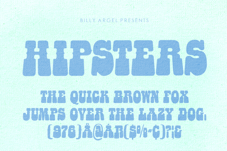 HIPSTERS ROUNDED Font