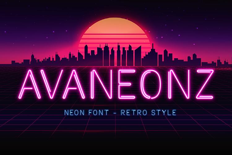 Avaneonz Line Font