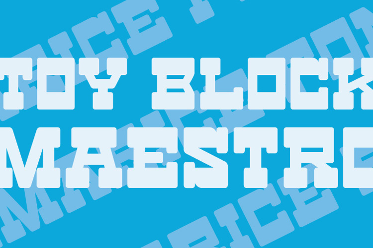 Toy Block Maestro Font
