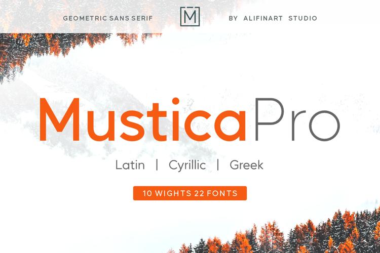 Mustica Pro Font