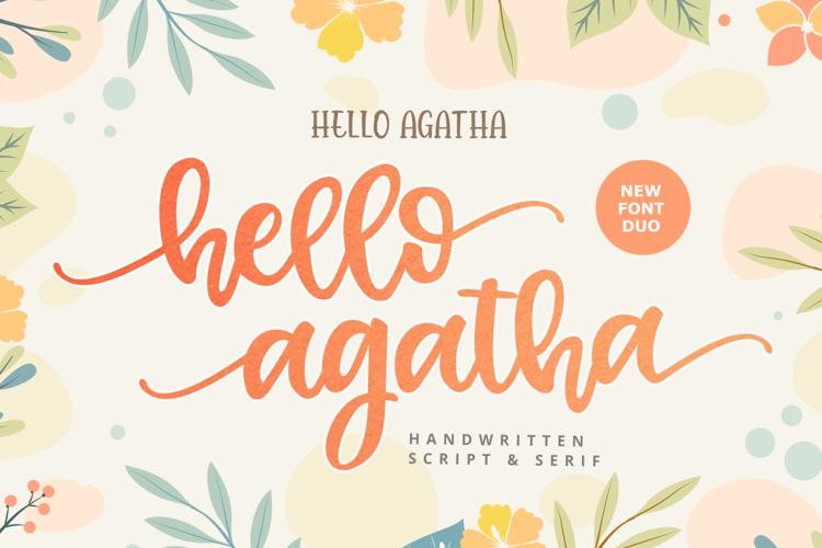Hello Agata Script Font