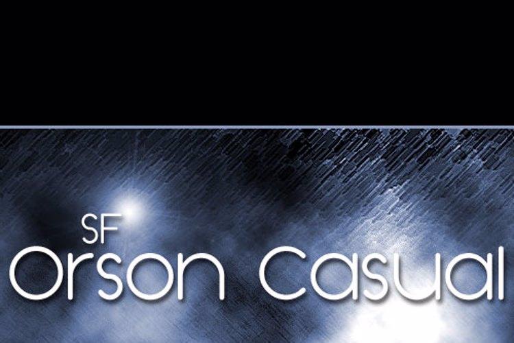 SF Orson Casua Font