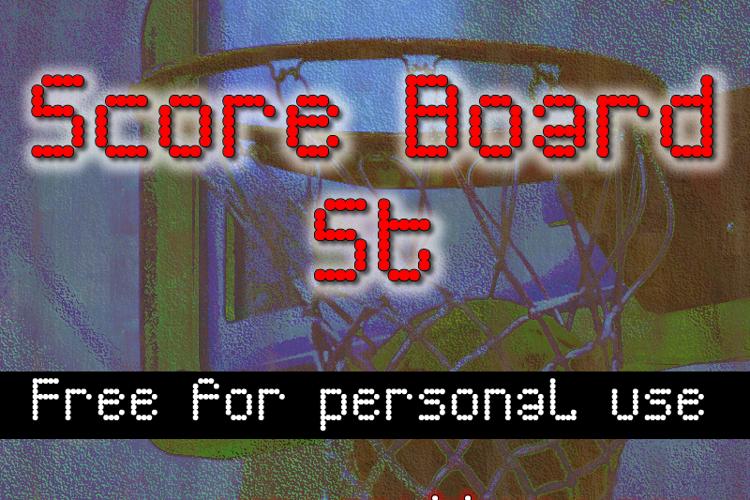 Score Board St Font