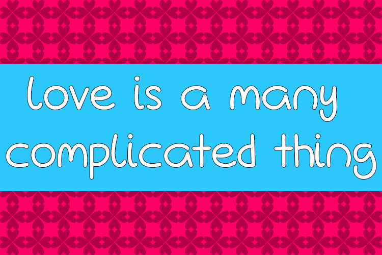 Love Is A Many Complicated Thin Font