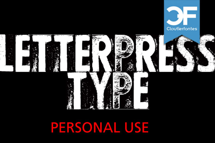 CF Letterpress Type Font