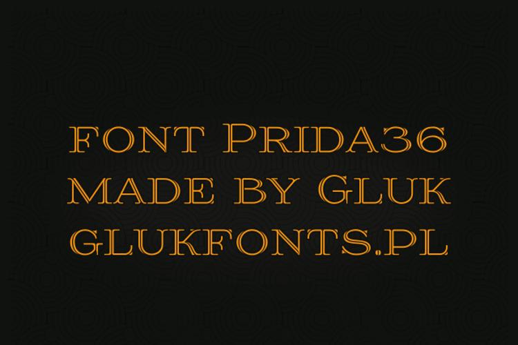 Prida36 Font