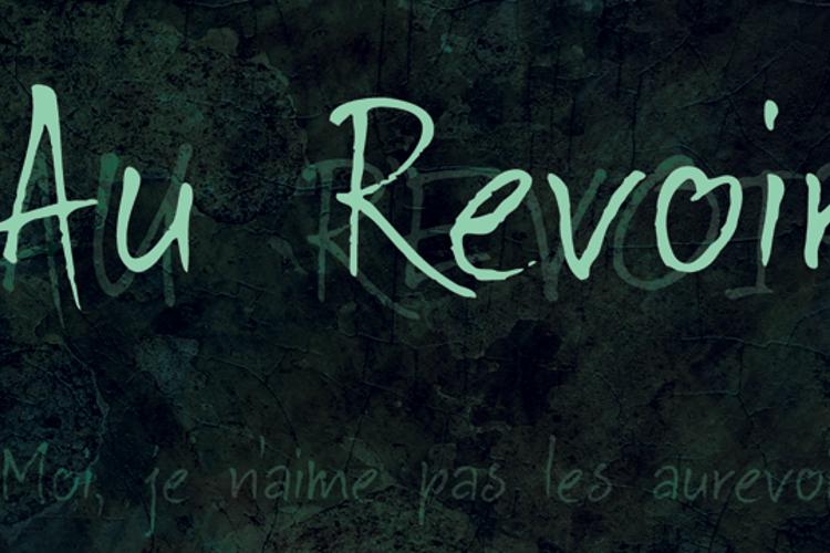 DK Au Revoir Font