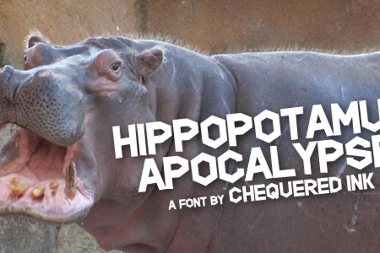Hippopotamus Apocalypse Font