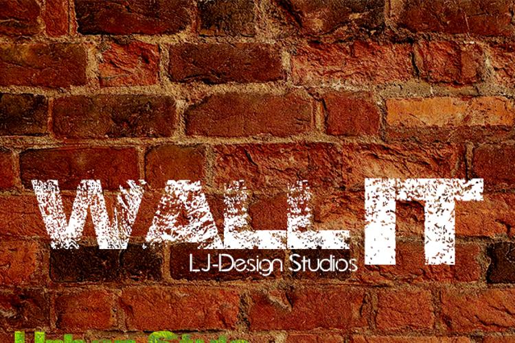 Wall IT - LJ-Design Studios Font