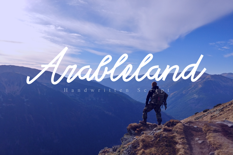 Arable land Font