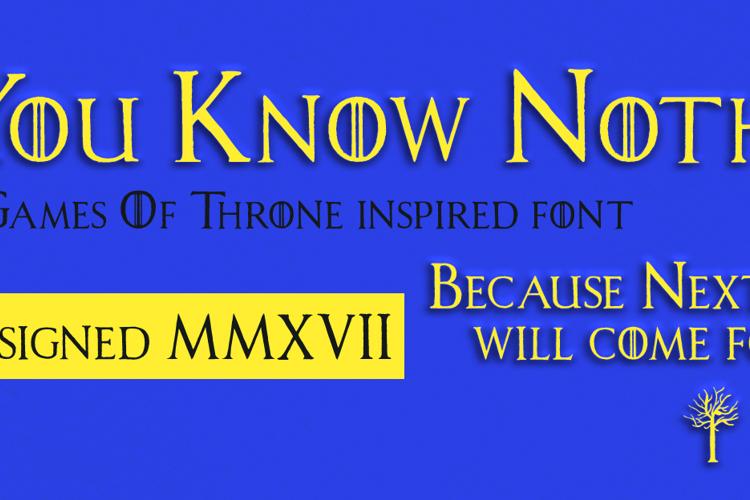 House Lannister Font