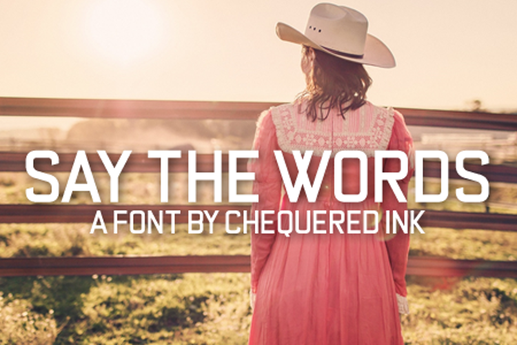Say the Words Font