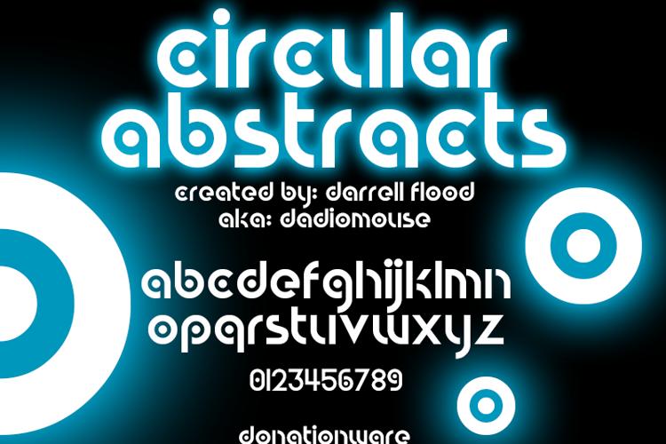 Circular Abstracts Font