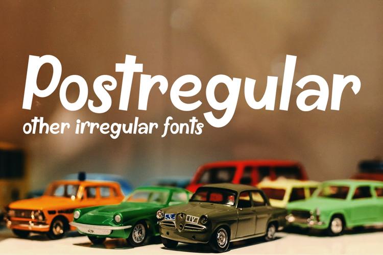 Postregular Font